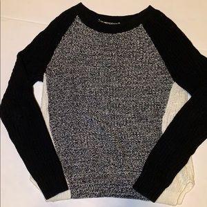 Cute grey/black/white Express sweater